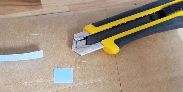 Olfa Knife Cutting UHMW Plastic Tape Material