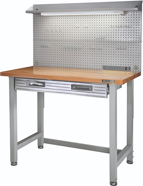 Seville Classics Workbench with Pegboard
