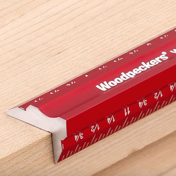 Woodpeckers Woodworkers Edge Rule Close Up