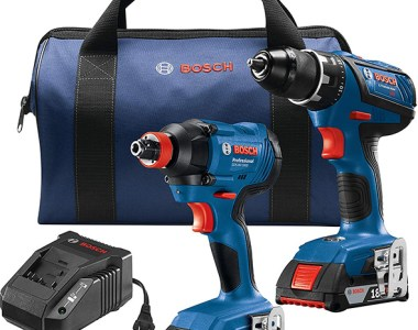 Bosch Cordless Drill and FREAK Impact Driver-Wrench Combo Kit