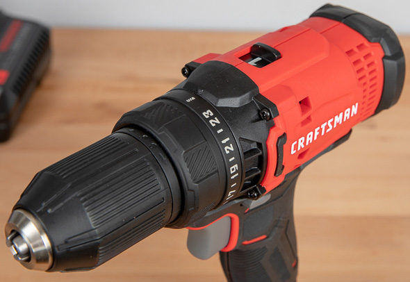Craftsman V20 Cordless Drill Driver CMCD700 Top Chuck and Clutch
