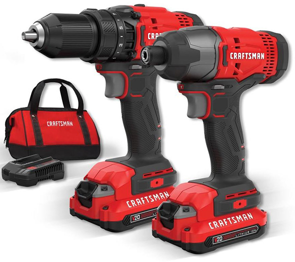 Craftsman V20 Cordless Drill and Impact Driver Kit Black Friday 2018 Deal CMCK200C2