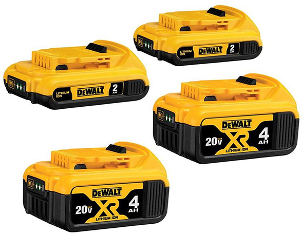 Dewalt 20V Max Cordless Power Tool Battery Bundle