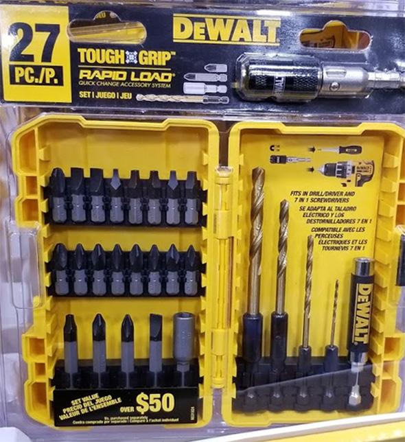 Dewalt ToughGrip 27pc Screwdriver Bit Set