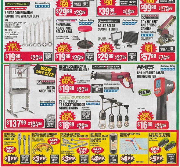 Harbor Freight Black Friday 2018 Ad Scan Page 4