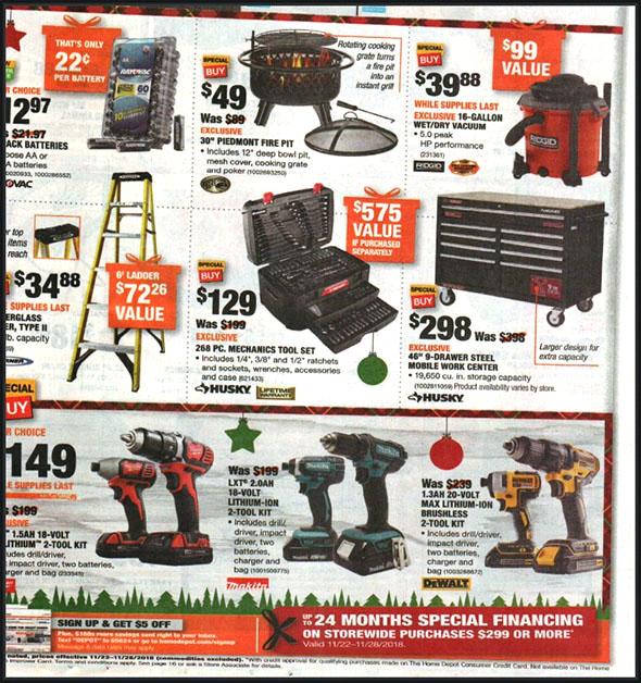 Home Depot Black Friday 2018 Tool Deals Page 2