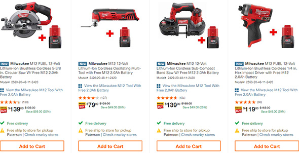 Home Depot Early Black Friday 2018 Milwaukee M12 Cordless Power Tool Deal Page 2
