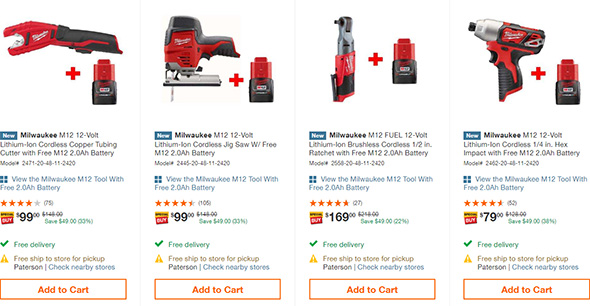 Home Depot Early Black Friday 2018 Milwaukee M12 Cordless Power Tool Deal Page 3