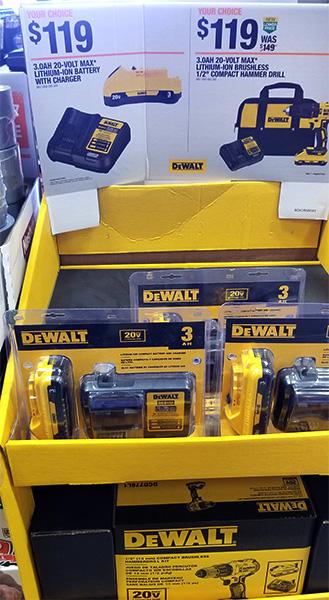 Home Depot Pro Black Friday 2018 Tool Deals Dewalt Brushless Hammer Drill and Compact Battery Starter Sets