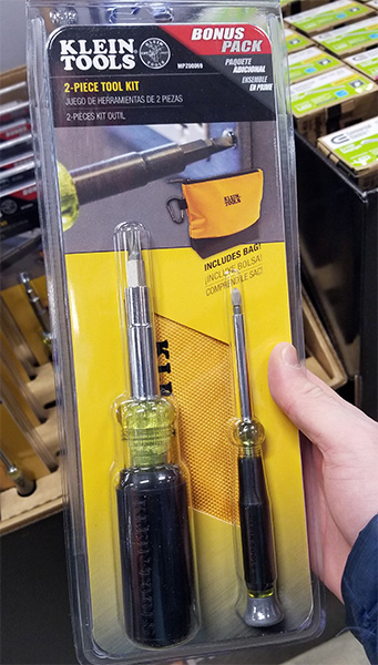 Home Depot Pro Black Friday 2018 Tool Deals Klein Screwdrivers and Pouch Tool Set