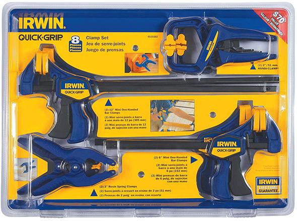 Irwin 8pc Clamp Set