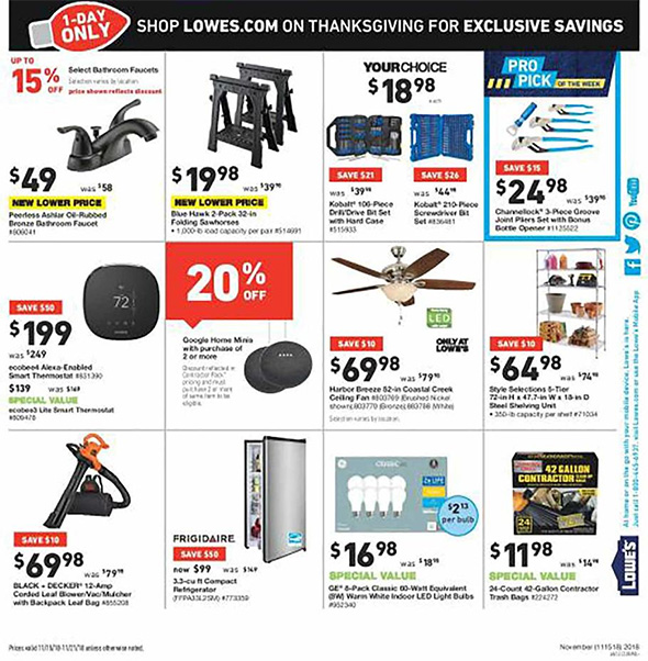 Lowes Pre Black Friday 2018 Tool Deals Page 7