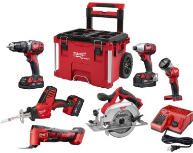 Milwaukee M18 Cordless Power Tool Combo Kit and Packout Rolling Tool Box Promo 2018