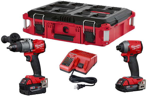 Milwaukee M18 FUEL Cordless Drill and Impact Driver with Packout Tool Box Promo 2018