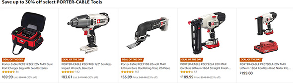 Porter Cable Tool Deals of the Day on Amazon 11-15-18