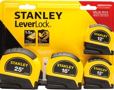 Stanley LeverLock Tape Measure Set