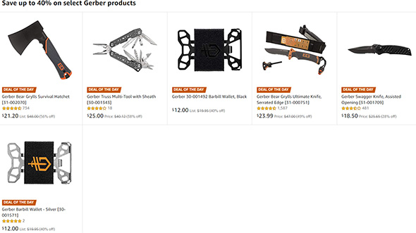 Gerber Tools Deal of the Day 12-13-18