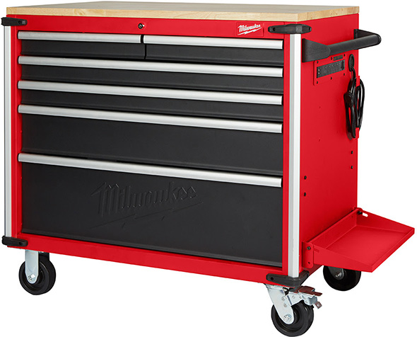 Milwaukee 40-inch Wood-Topped Mobile Workbench