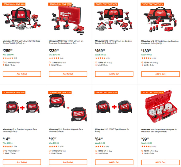 Milwaukee Tool Deals of the Day Version 2 12-24-18