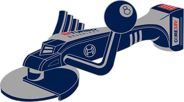 Bosch Spitfire Cordless Angle Grinder