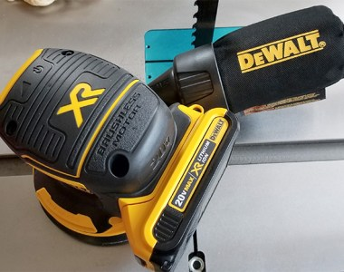 Dewalt Cordless Sander Top View