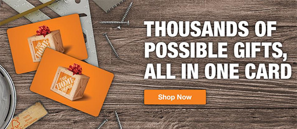 Home Depot Gift Cards Promo