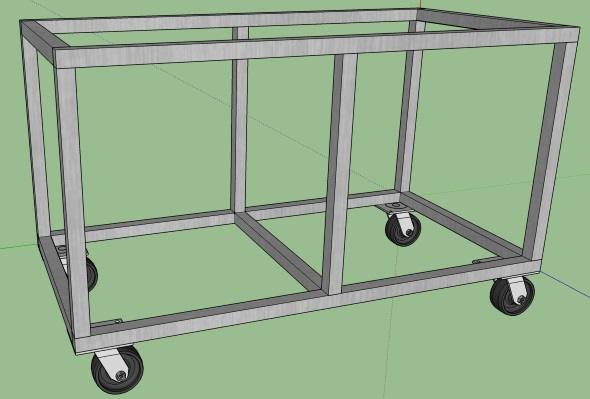 My Journey To An Organized Shop - Sketchup basic shell with casters