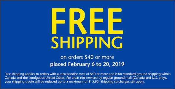 Lee Valley Free Shipping Feb 20th 2019