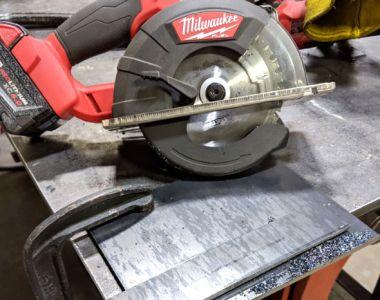 Milwaukee M18 Fuel Metal Cutting Circular Saw quarter-inch steel plate