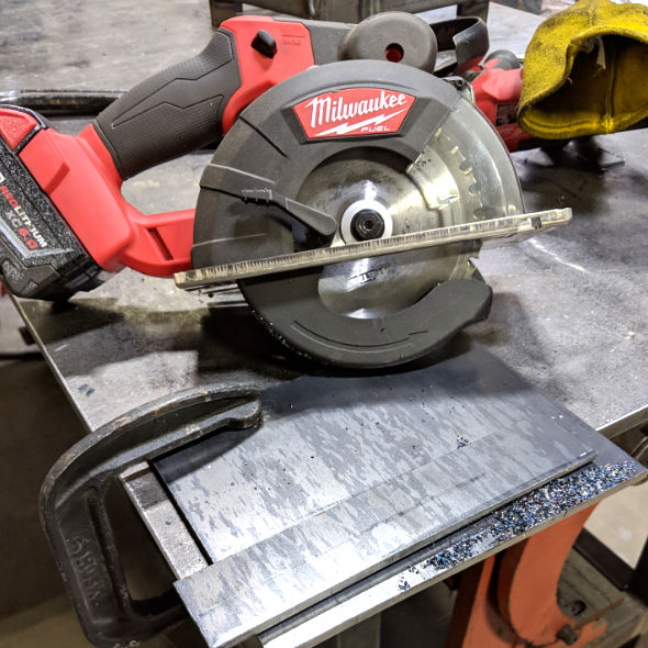 Milwaukee M18 Fuel Metal Cutting Circular Saw quarter-inch steel plate
