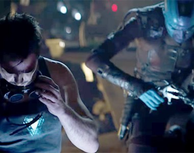 Tony Stark and Nebula from Avengers Endgame Superbowl Trailer