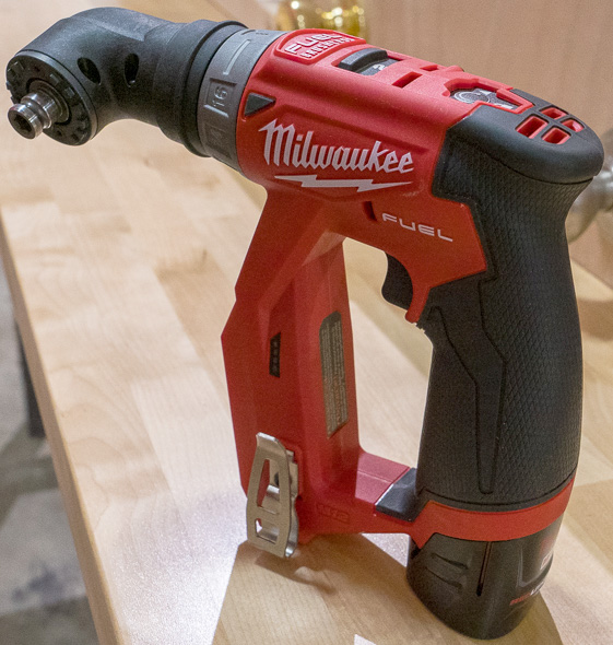 Milwaukee M12 Fuel Cordless Installation Drill Driver Tool with Right Angle Chuck