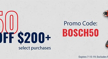 Bosch 50 off 200 July 2019 Promo Acme Tools
