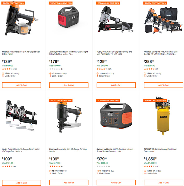 Home Depot Pneumatic and Cordless Nailer Deals 7-2-19 Page 2