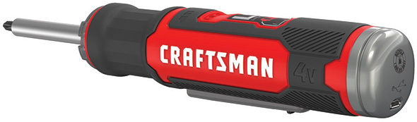 Craftsman Gyroscopic Cordless Screwdriver Charging Port and Activation Switch