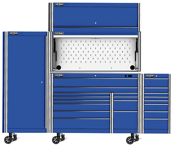 Fully Accessorized Harbor Freight Icon Tool Cabinet and Work Station
