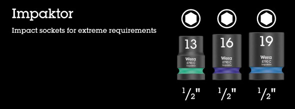 Wera 2019 Impaktor Impact Ready Socket Sets