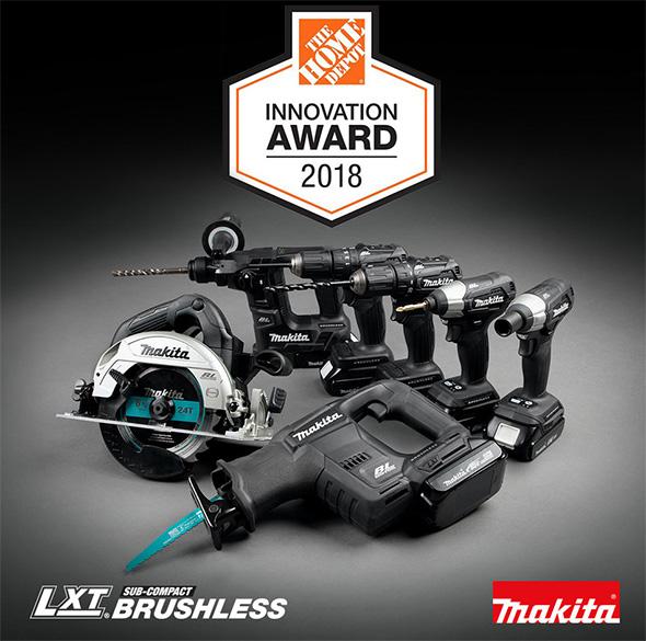 Home Depot Innovation Award 2018 Makita Sub-Compact Cordless Power Tools