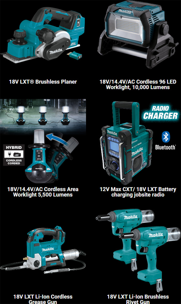 Makita Australia 2020 18V LXT Cordless Power Tool Expansion