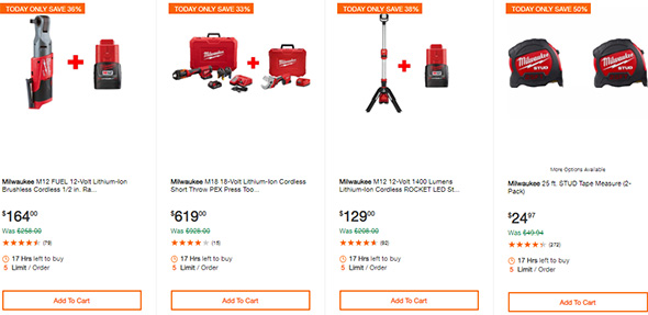 Milwaukee Cordless Power Tool Deals of the Day 10-7-19 Page 4