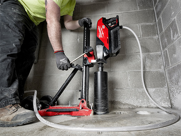 Milwaukee MX Fuel Cordless Core Drill Used Vertically