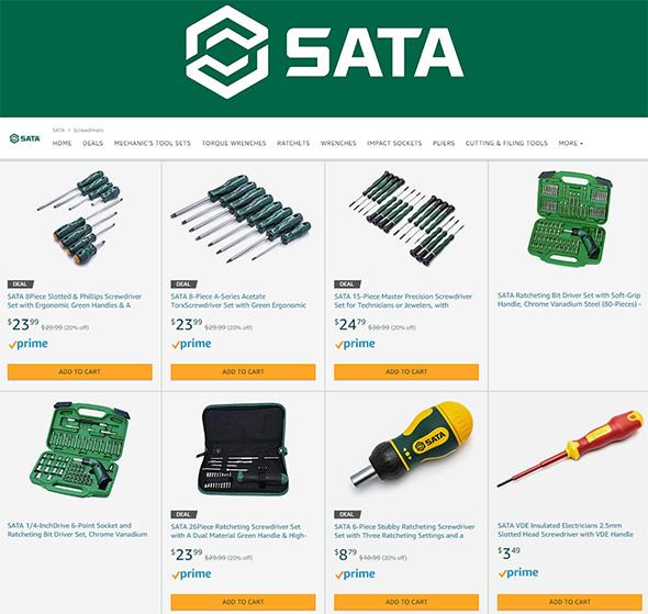 Sata Hand Tools at Amazon
