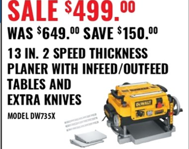 Dewalt Planer Deal Black Friday 2019