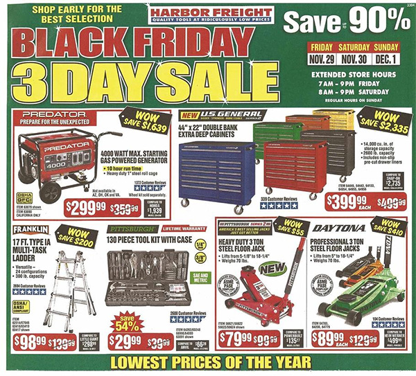 Harbor Freight Black Friday 2019 Tool Deals Page 1