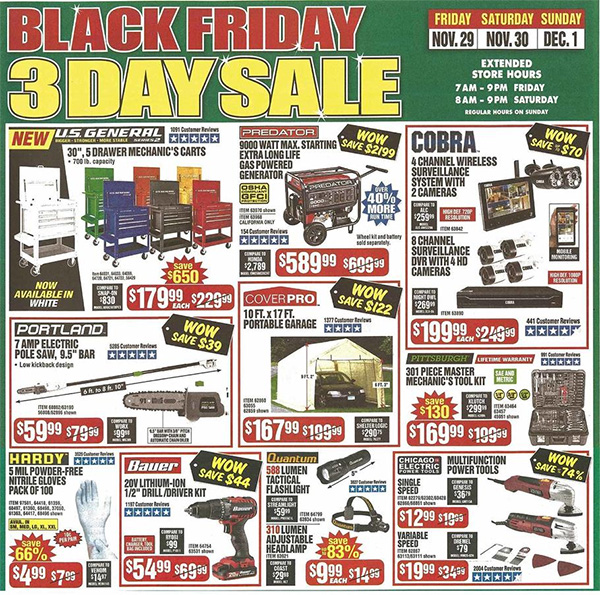 Harbor Freight Black Friday 2019 Tool Deals Page 7