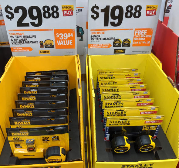 Home Depot 2019 Pre Black Friday Special Buys Dewalt and Stanley Tape Measures