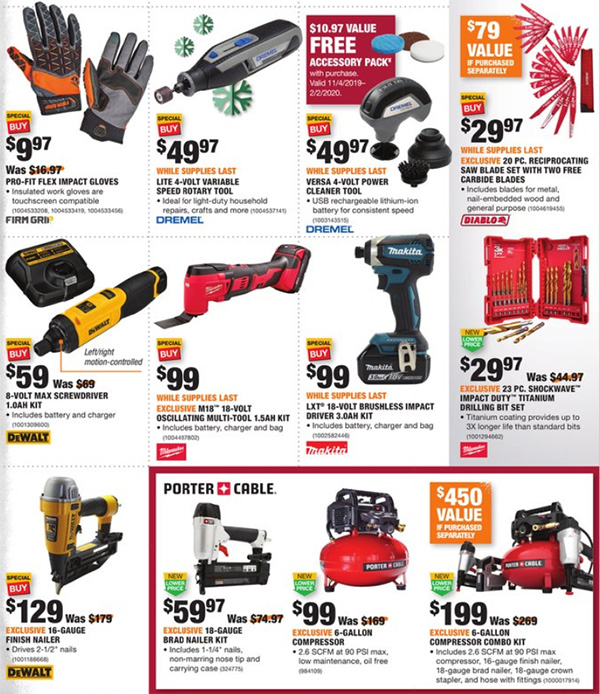 Home Depot Black Friday 2019 Official Tool Deals Page 16