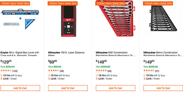 Home Depot Milwaukee Special Buy Tool Deals of the Day 11-13-19 Page 2
