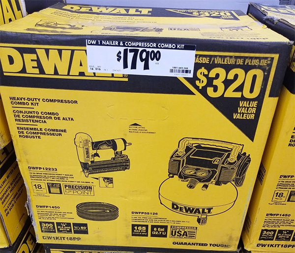 Home Depot Pro Black Friday 2019 Dewalt Air Compressor and Nailer Bundle Deal
