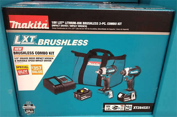 Home Depot Pro Black Friday 2019 Makita 18V Brushless Impact Driver and Wrench Combo Deal